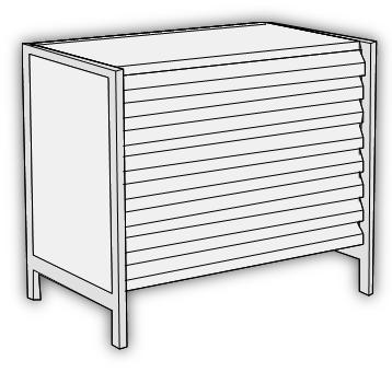 Accessories - Untergestell mit 8 Schubladen